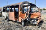 برخورد کامیون با اتوبوس مسافربری گرمی ۲کشته برجای گذاشت